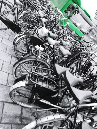 Bikes The Street Photographer - 2017 EyeEm Awards Amsterdam Street Photography Green Green Color Travel Destinations No People Bikes Bicycles Biciclette Bicicletta Fahrräder Fahrrad Live For The Story Sommergefühle Mobility In Mega Cities