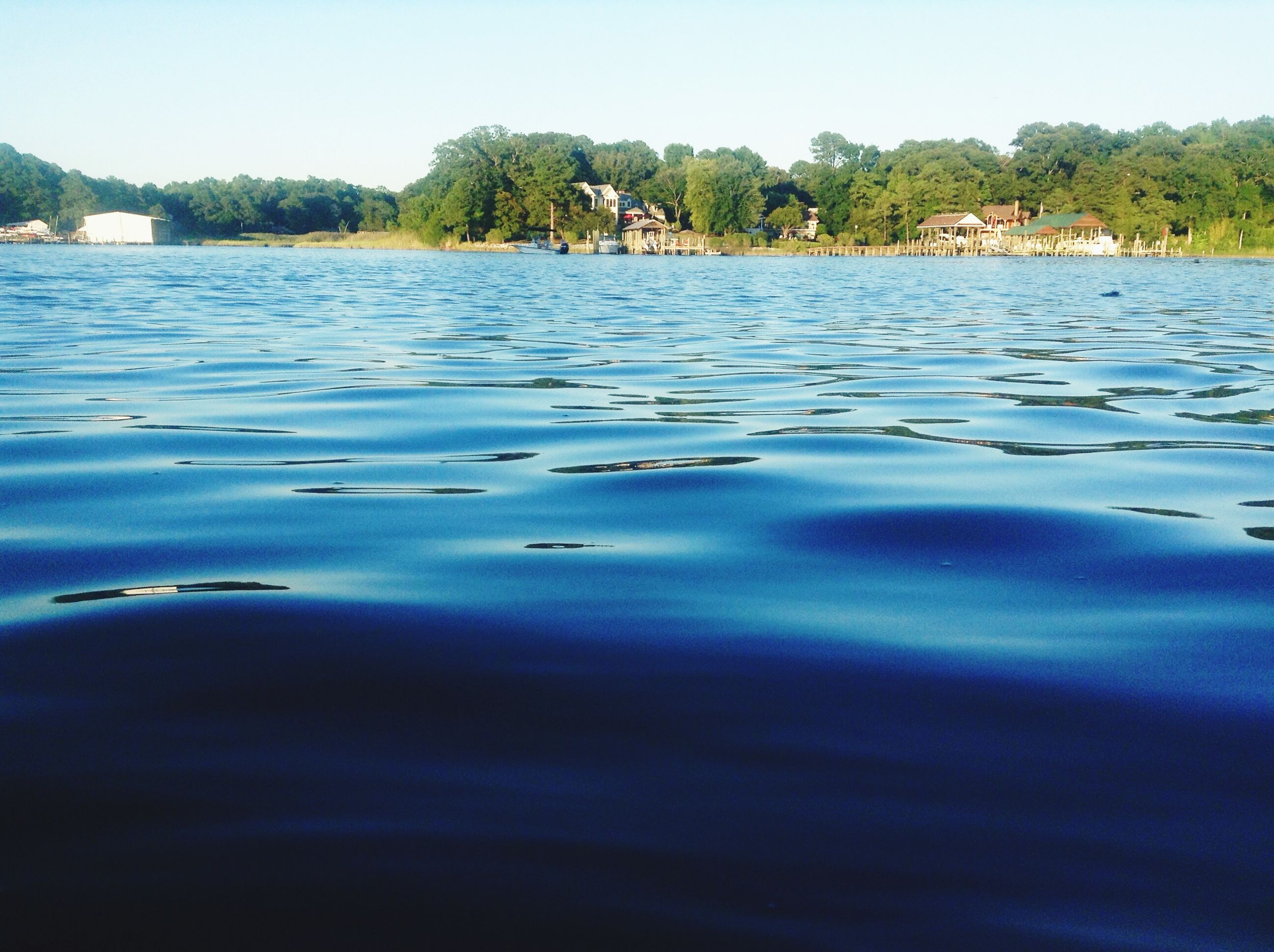 water, reflection, lake, waterfront, tranquil scene, tranquility, scenics, blue, beauty in nature, clear sky, rippled, tree, nature, idyllic, calm, no people, outdoors, day, sky, water surface