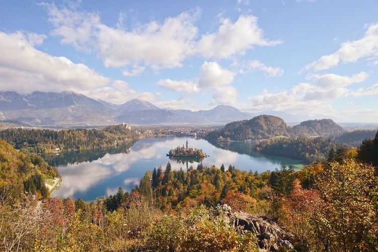 Lake Bled in Slovenia. Amazing Clouds And Sky Sky Nature Nature Urban Pastel Power Lake View Lake Slovenia Bled Bled, Slovenia Vanilla Sky Bled Island Blejsko Jezero Peaceful View Church Eyeemphoto A Bird's Eye View Best Shots Autumn Adventure Club Nature's Diversities 43 Golden Moments My Year My View light and reflection Miles Away Perspectives On Nature
