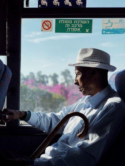 👤 Mydbusmoments מייאוטובוס ShotOnIphone IPhoneX מייאייפון10 Real People Men One Person Day Transportation Mode Of Transportation Males  Capture Tomorrow Redefining Menswear