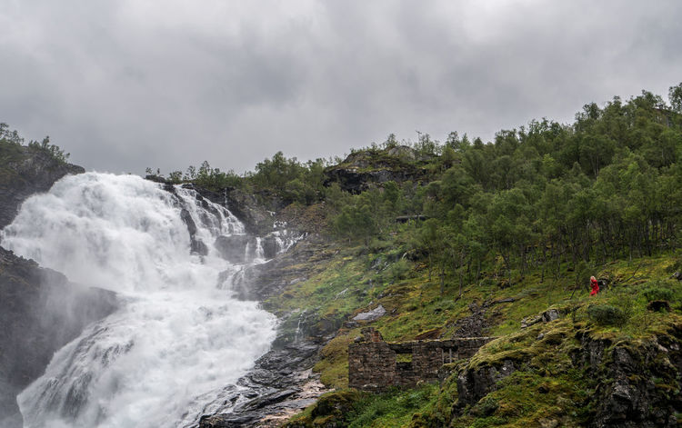 Landscape of Norway, Kjosfossen Flamsbana Kjosfossen Norway Beauty In Nature Cloud - Sky Day Environment Flamsbana Flowing Flowing Water Flåm Forest Land Long Exposure Motion Nature No People Non-urban Scene Outdoors Plant Power In Nature Scenics - Nature Sky Tree Water Waterfall
