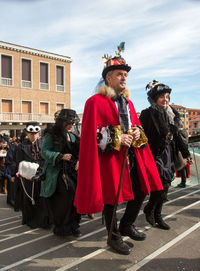 Actor Adult Architecture Arts Culture And Entertainment Day Full Length Men Outdoors People Period Costume Sky Stage Costume Standing Steampunk Venice