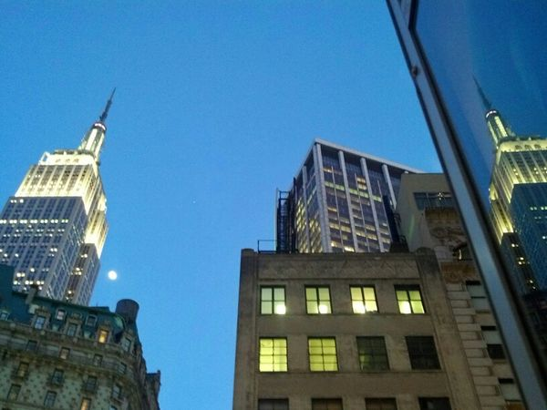 Moons over Manhattan. this guy is too big for instagram, so eat your hearts out EyeEm. NYC Building Empire State Building Herald Square