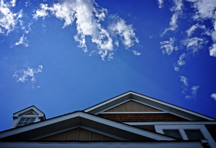 Sky above house House Sky Sky And Clouds Peak Summer Sunny Structure Home Blue Sky