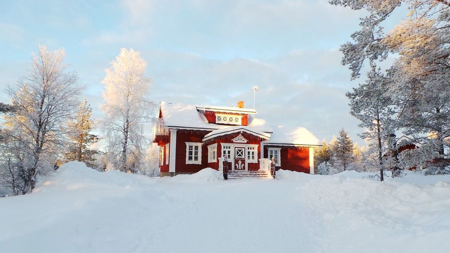 Winter Snow Cold Temperature Travel Destinations Sky Snowing No People Built Structure Outdoors Finland Lapland Lapland, Finland Saariselkå Finlandia Lapponia Snowflake Tree Architecture Nature Day