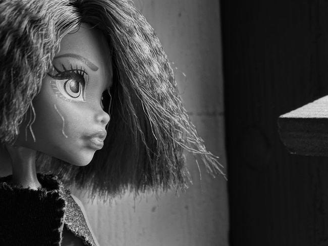 Monsterhighdolls Monsterhighphotography Barbie Black & White Portrait