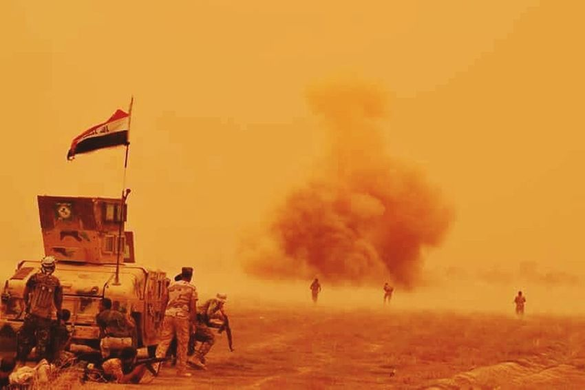 Sandstorm Iraq Army Army Strong