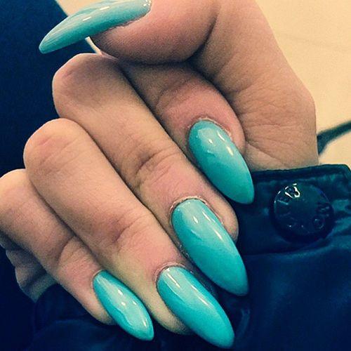 Nails Blue Stiletto That's Me Moncler Taking Photos Hanging Out Enjoying Life Blue Nails Nailpolish 💅🏼💙