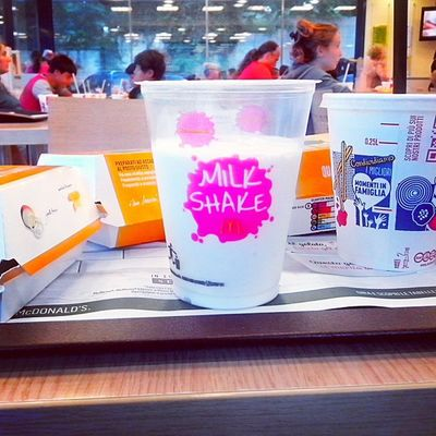 Milk Shake MC Donald 's Love Beautiful Coconut Drink Photographer Photo