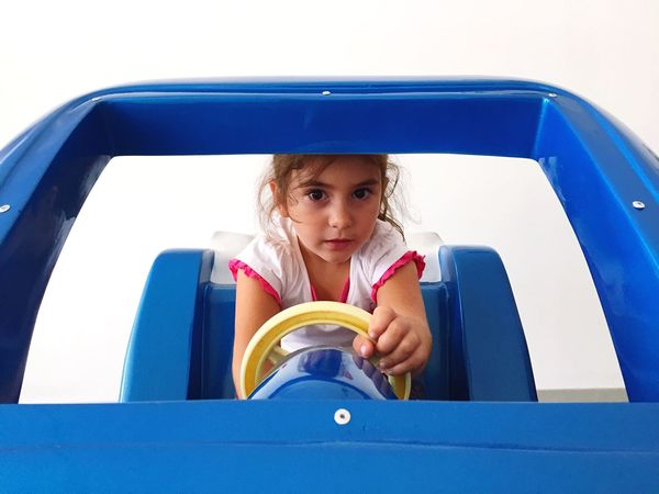 In my car ... Driving Car Child Babygirl People Fun Funny Driver Playing Drive