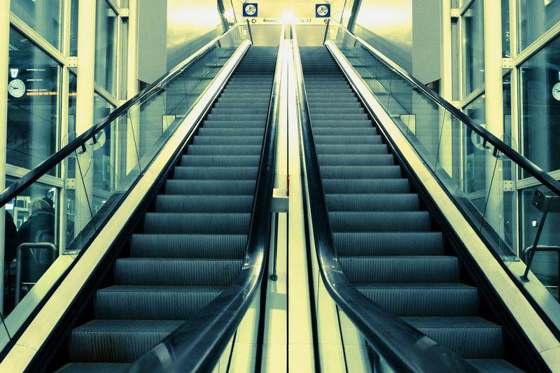 View of escalator