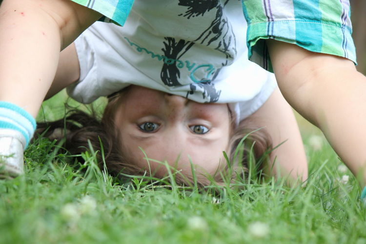 Adorable Child Childhood Cute Eyes Fun Funny Girl Kid Upside Down