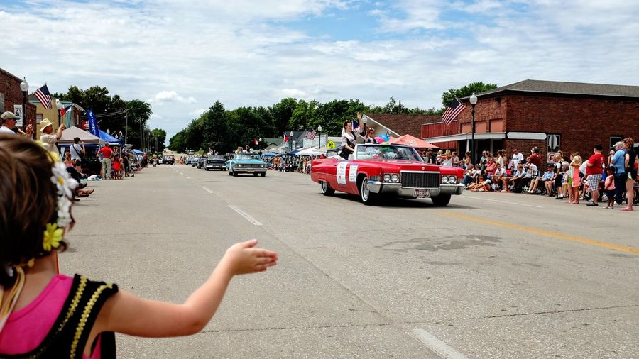 55th Annual National Czech Festival August 5, 2016 Wilber, Nebraska A Day In The Life Automobile Color Photography Czech Days Czech Festival Daughter Event From My Perspective Large Group Of People Leisure Activity Lifestyles Main Street USA Midday Sunlight Nebraska Parade Parade Time Person Smal Town USA Small Town USA Street Photography Streetphotography Summer Views Summertime Waving Hello Wilber, Nebraska