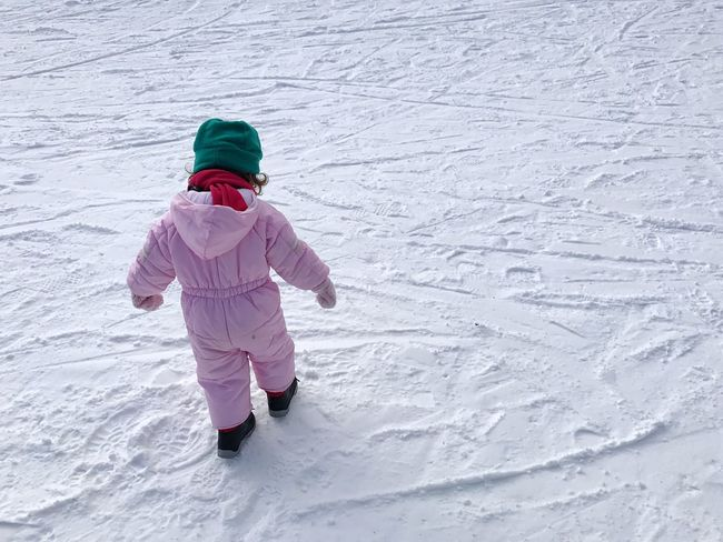Bansko Winter Snow Cold Temperature Child Children Only Childhood Warm Clothing One Person One Girl Only Happiness People Vacations Full Length Outdoors Snowing Day