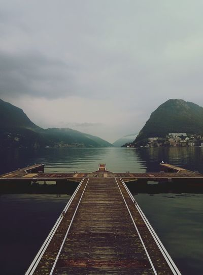Scenic View Of Lugano Lake