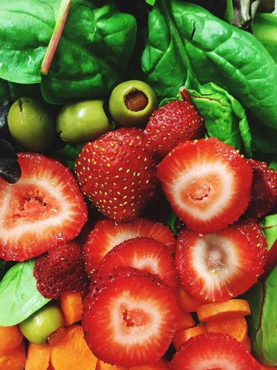 You are what you eat guys. Organic Food Groceries Market Olives Carrots Natural Foods Nature Recepie Salad Food And Drink Healthy Eating Food Wellbeing Freshness Fruit Still Life Vegetable No People Berry Fruit Strawberry Close-up Full Frame Red SLICE Choice Organic Green Color