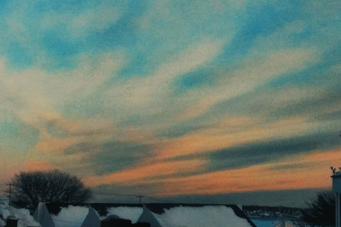 Last sunset of 2017 ~ Sunset Beauty In Nature No People Nature Scenics Cloud - Sky Tranquility Tranquil Scene Outdoors Built Structure Multi Colored Sky Architecture Tree Day Colors Of Life Memories Happy Moments Cold Temperature Winter Tranquility Love Strength Of Nature Loving The Landscape In Portland Maine USA