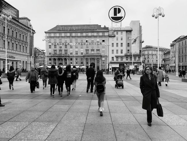 ___cold city____ City Large Group Of People Architecture People Politics And Government Outdoors Croatia Sky Hello World Buildings Built Structure Zagreb Fall Cold Temperature