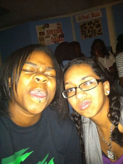 Sade and I being silly