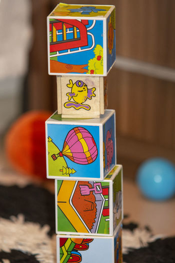 Multi Colored Representation No People Art And Craft Toy Human Representation Creativity Close-up Indoors  Focus On Foreground Wood - Material Decoration Text Communication Craft Still Life Male Likeness Wall - Building Feature