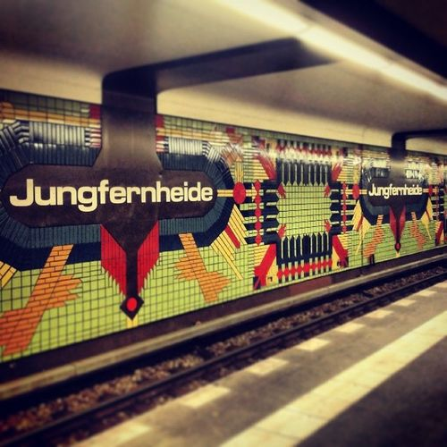Berlin Ubahn Jungfernheide Work of art colors multicolored LOVE