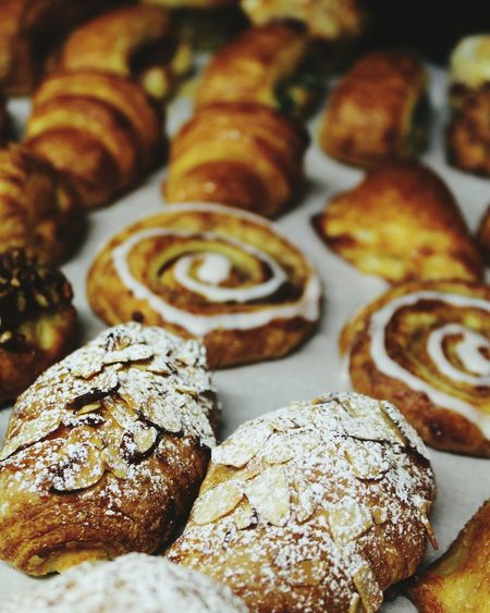 Bakery Food And Drink No People Close-up Ready-to-eat Baked Sweet Food Food French Food Danish Croissants Almond Snegl Wienerbröd