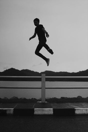 Just a good weekend with my bros...Black And White Friday Full Length Jumping One Person Speed Mid-air Nature Adults Only Cloudy Skies Rainy Days Hangouts  With Friends EyeEmNewHere Lifestyles Leisure Activity Photographer Photography Be. Ready. Photooftheday