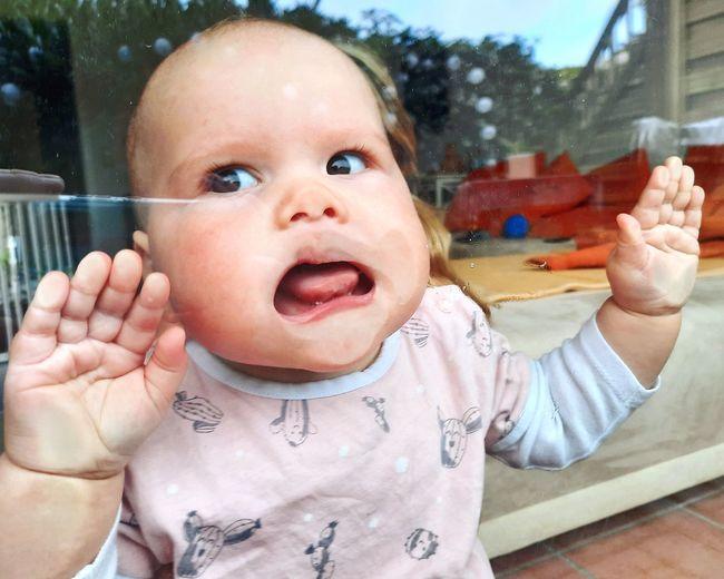 Portrait of cute baby girl