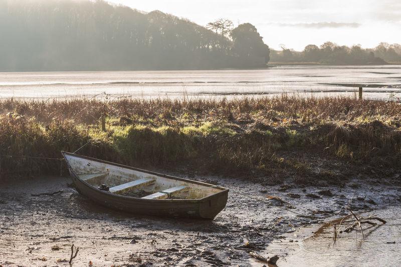 River Tamar River Riverside Devon England Nature Tranquility Tide Out Tidal Morning Mist Morning Mist In Landscape Boat Boats Landscape Landscape_Collection Landscape Photography Landscapes