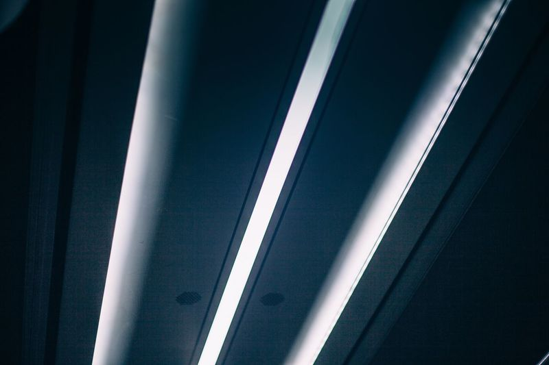 Low Angle View Of Illuminated Ceiling