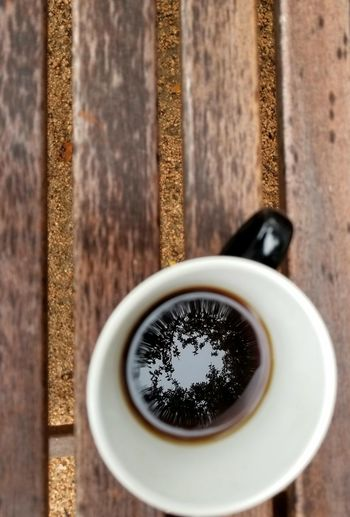 black coffee reflection Lines, Shapes And Curves Circle In The Middle Coffee Break Coffee Reflection Blackcoffee Rainy Day Indoors  High Angle View Tea - Hot Drink Freshness No People Close-up Day Directly Above Coffee Cup Drink Coffee - Drink