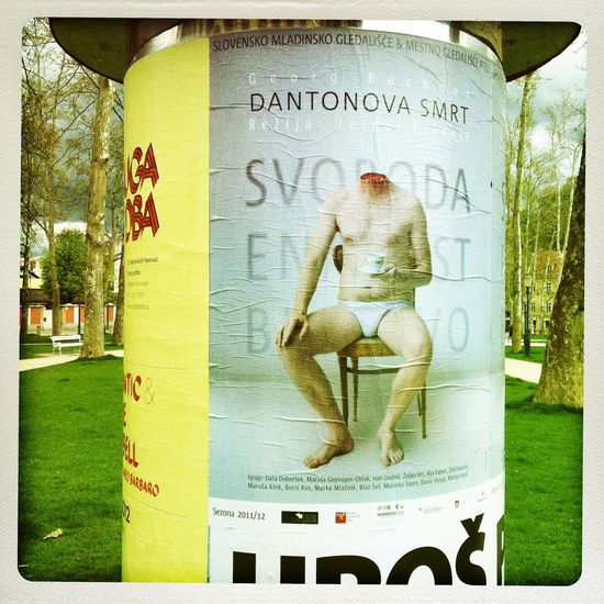 Add Communication Creativity Cup Of Tea Information Sign Ljubljana Naked_art No Head Post Slovenia Streetphotography Cut Off  Nakedhuman TCPM