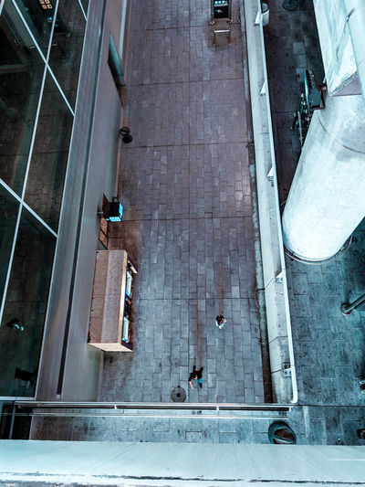 An airport scene Travel Modern Architecture Tiny People Bridge - Man Made Structure Levels Levels Of A Building Airport Looking Down Walkway Passangers City Aerial View High Angle View Architecture