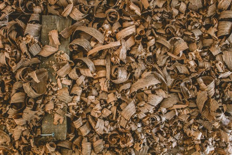 Full frame shot of sawdust