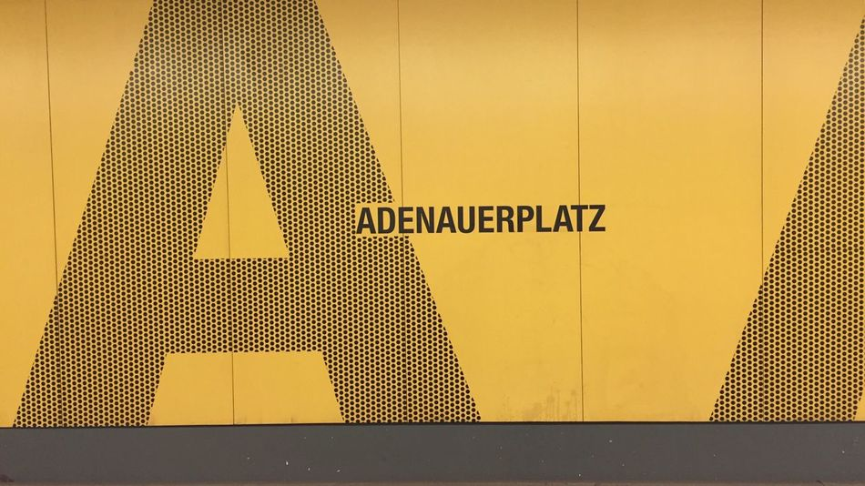 Notes From Berlin U-Bahnhof Graphic Design Graphics Big Letters Underground Metro Station Typography Capture Berlin