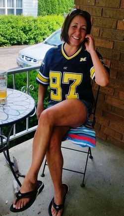 Hanging Out Frontporch michigan university Jersey