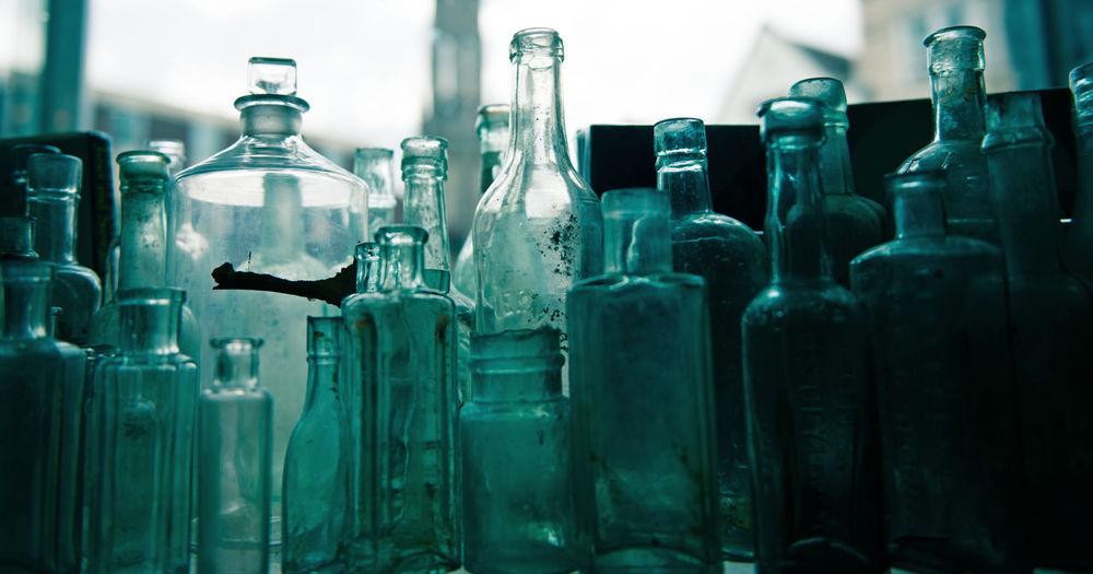 Bottle Bottles Bottles Collection In A Row Large Group Of Objects Old Old Bottles Variety Vintage Vintage Bottles