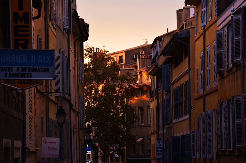 City Architecture Sunset Travel Destinations Vacations Outdoors No People Cityscape Building Exterior Low Sky Day Aixenprovence