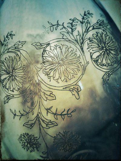 Alternative Process Art Deco Art Nouveau Glass Engraving Jar Wine Gum Bichromate Alternative Process