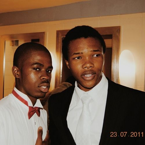Throwback Thursday: My homeboy @bubele_m and I at the GHS winterball in 2011. Lol, dont know why we were so sweaty. I cant believe this was 3 years ago though :O Letmetakeyouback Wearegettingold Tb Throwback thursday 2011 ghs pmb friend suitandtie dapper highschool vsco vscogram vscogood sweat igerssouthafrica igersdurban igerscapetown igersjozi africa blackman bowtie wayback 030714
