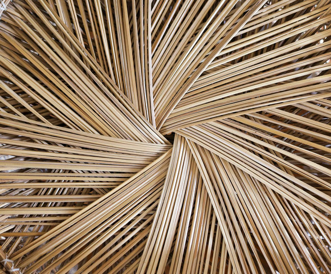 A close up image of wicker background
