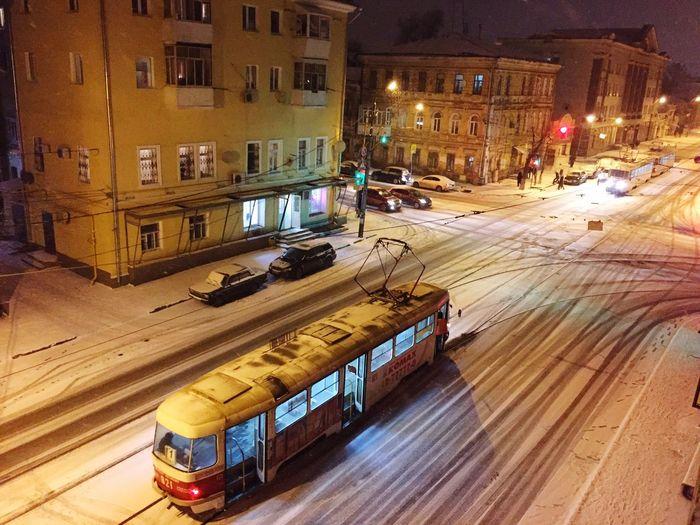 Showcase: February красивый город Самара Трамвай  пустота легкий снежок декабрь