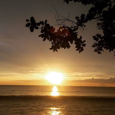 Sunset in carita beach. View of my photography.