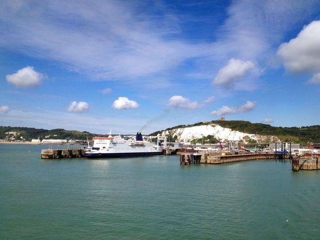 Ferry port of Dover, England Dover England Port Port Of Dover White Cliffs Of Dover Ferry Ship Dover Castle