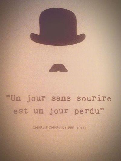 First pic 👌🏼 FirstEyeEmPic Quotes Charliechaplin Art Smile Hat First Eyeem Photo