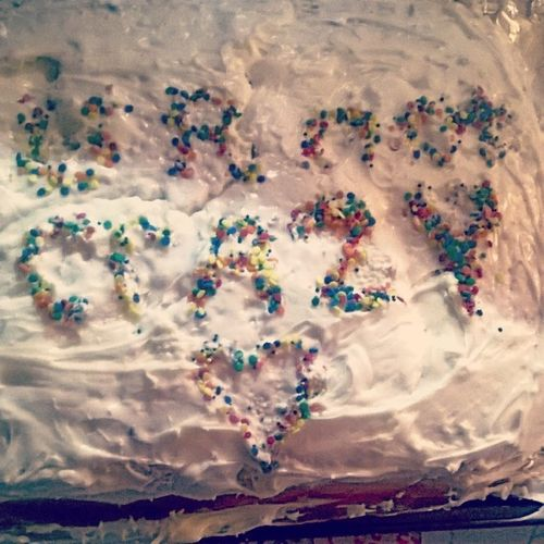 Made this cake for my friend's momma. It tasted hella good like oh my Buddha. <3 Cake Urnotcrazy Delicious