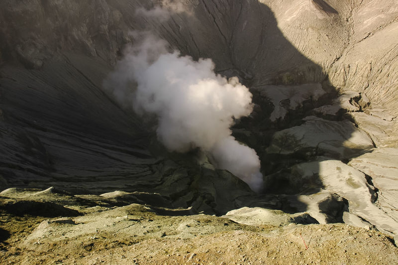 Beauty In Nature Day Emitting Erupting Geology Heat - Temperature Land Landscape Mountain Nature No People Non-urban Scene Outdoors Physical Geography Pollution Power Power In Nature Rock Smoke - Physical Structure Volcanic Crater Volcanic Landscape Volcano