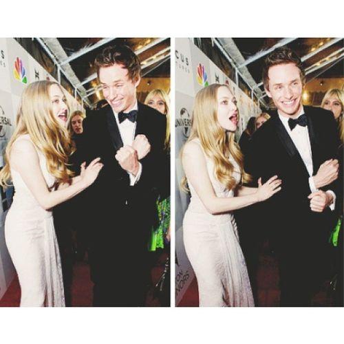 I LOVE them together ??   AmandaSeyfried EddieRedmayne Lesmiserables