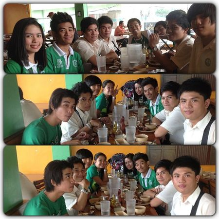 Lunch with blockmates. ??? Manginasal