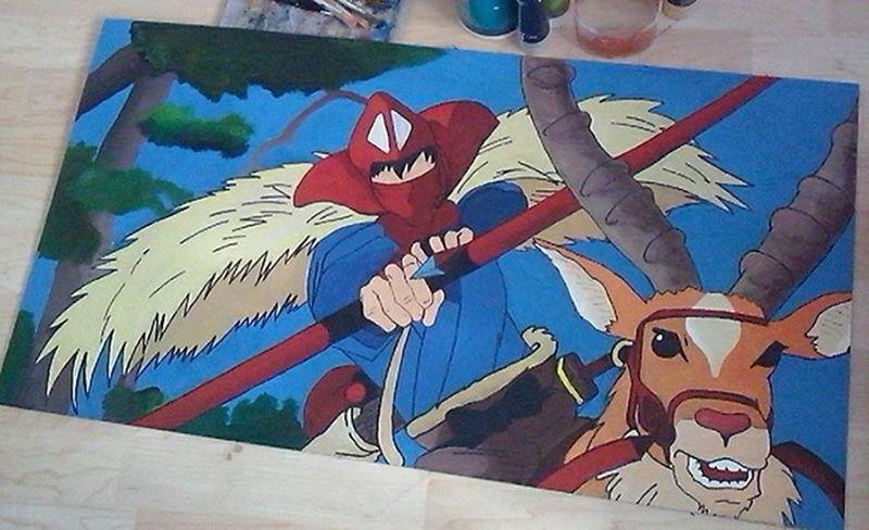 Not Finish Yet Princess Mononoke Ashitaka Painting